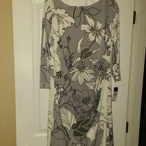 Ralph Lauren Gray and White Dress